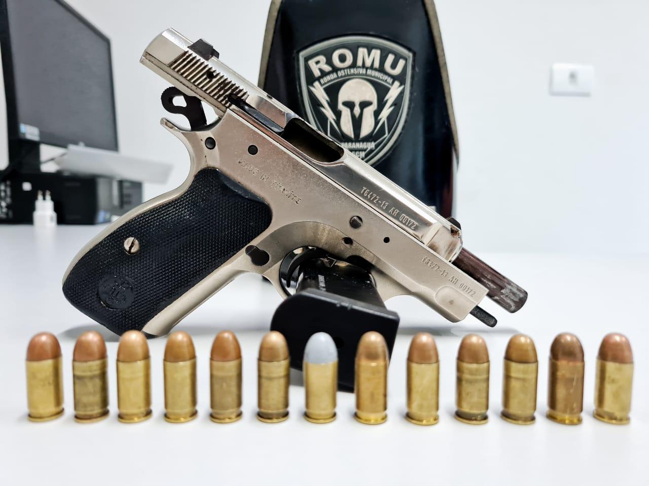 ROMU apreende pistola