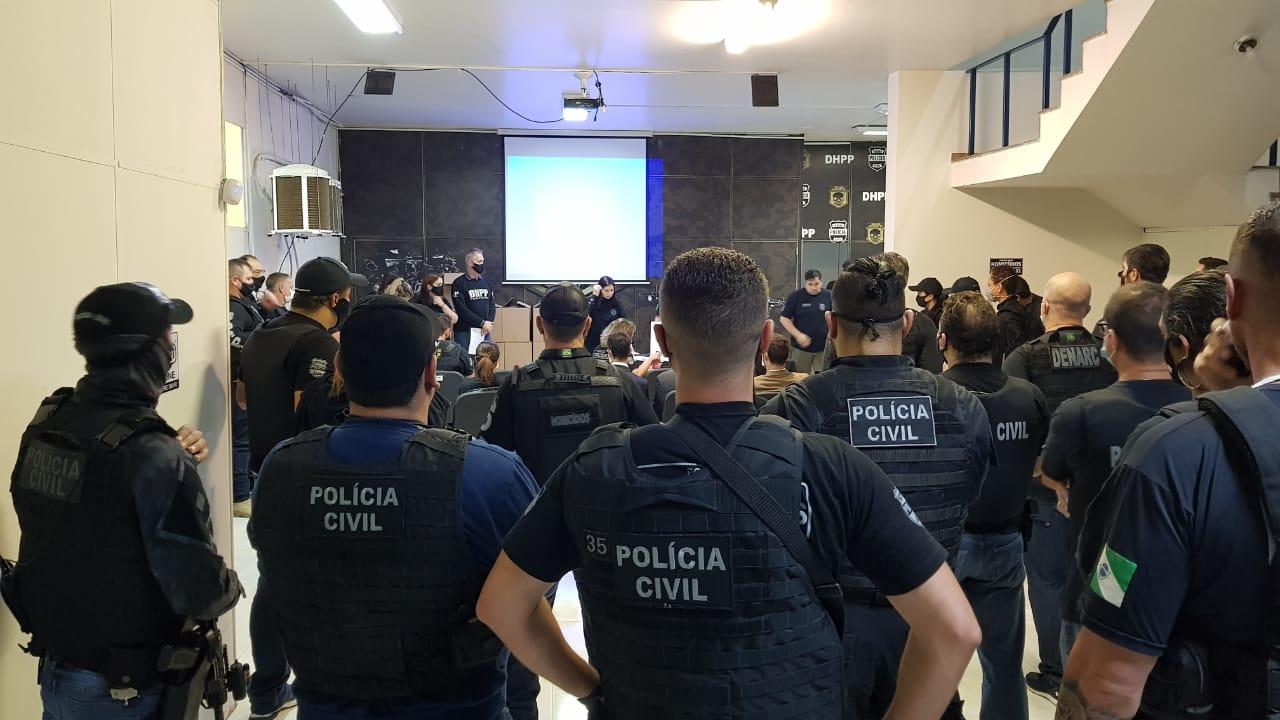 PCPR cumpre 49 mandados contra organização criminosa