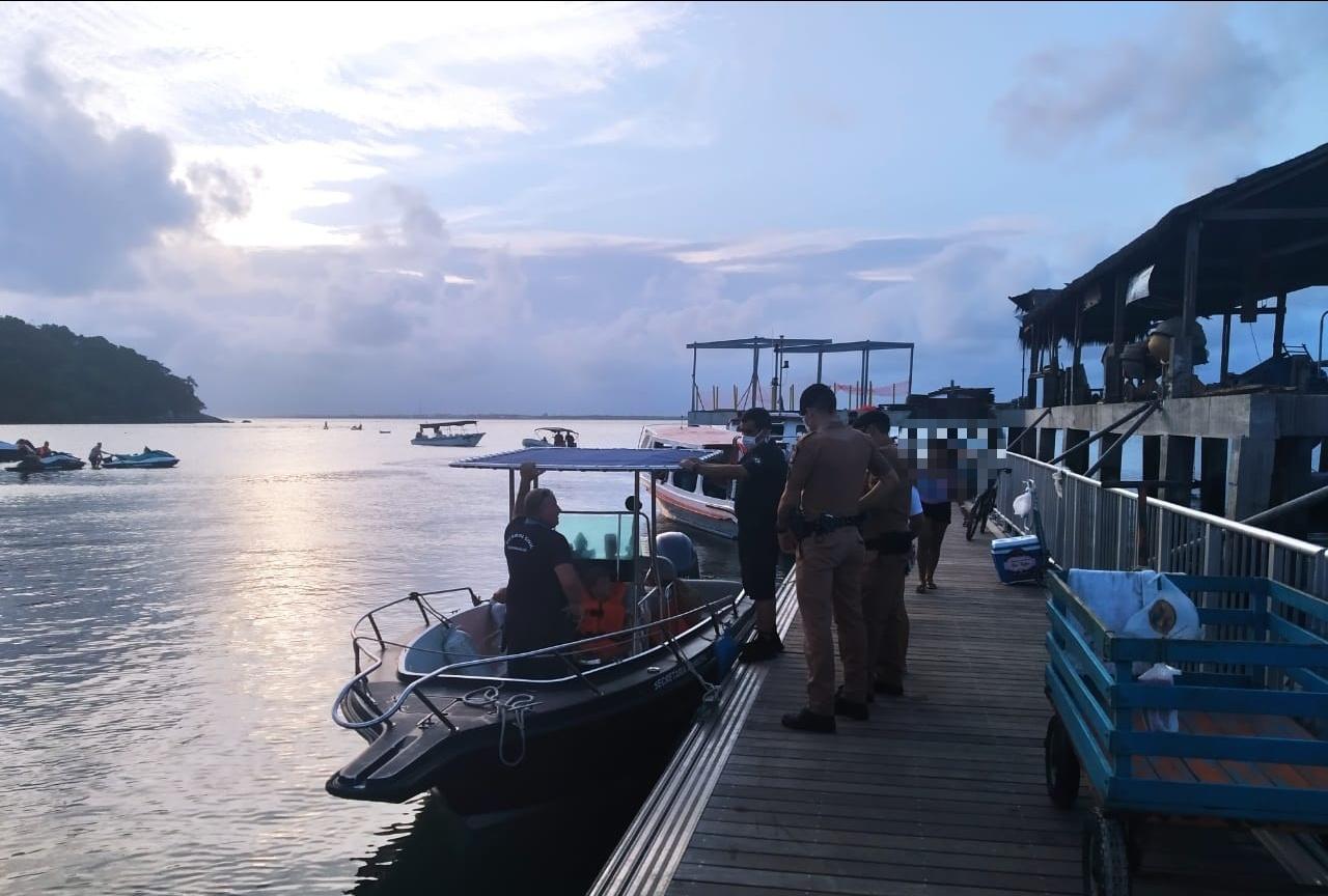 Foragido da Justiça é capturado pela Patrulha Marítima na Ilha do Mel