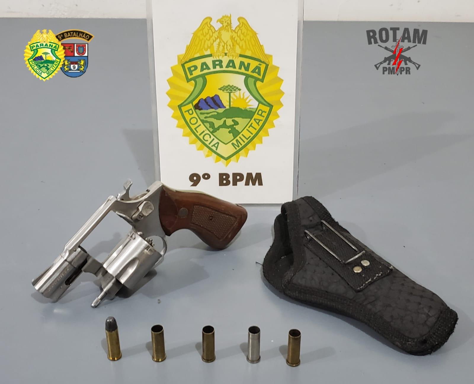 Discussão por conta de som alto termina com tiros e arma apreendida em Guaratuba