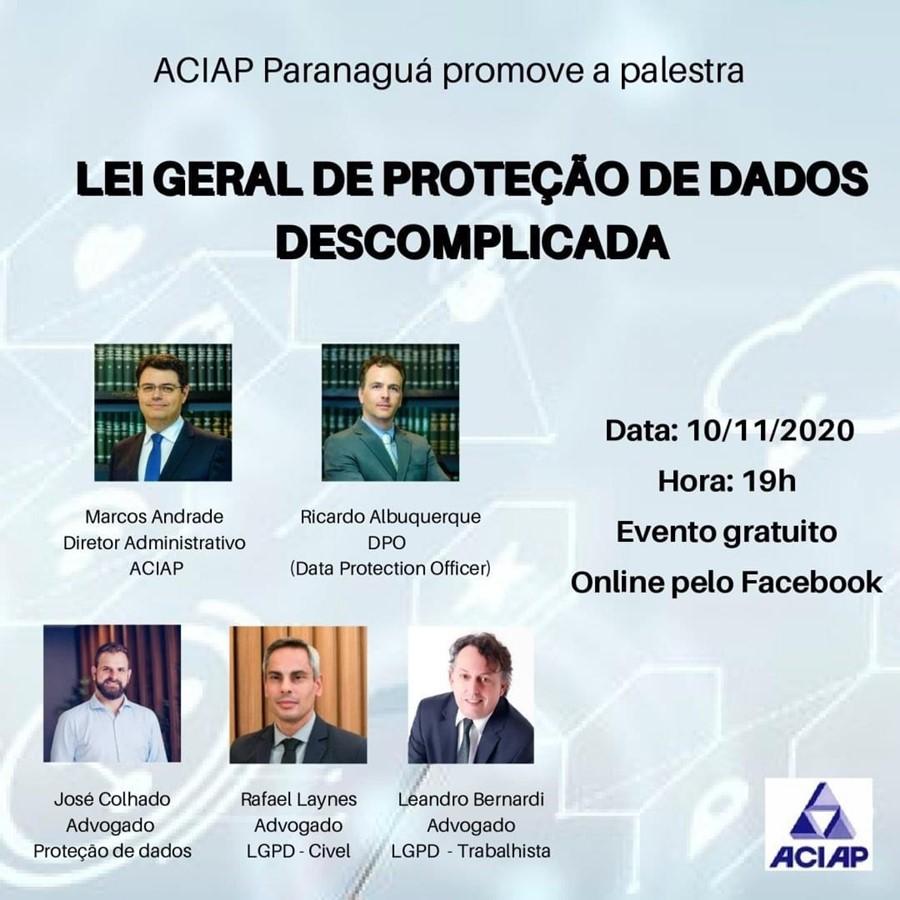 Palestra sobre Lei Geral de Proteção de Dados