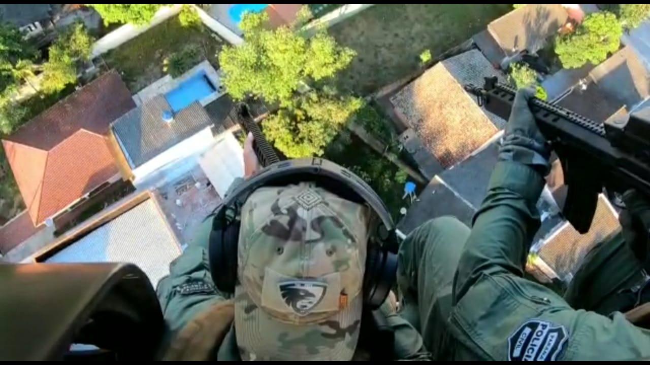 PCPR realiza apoio aéreo na maior operação da PF e da Receita Federal