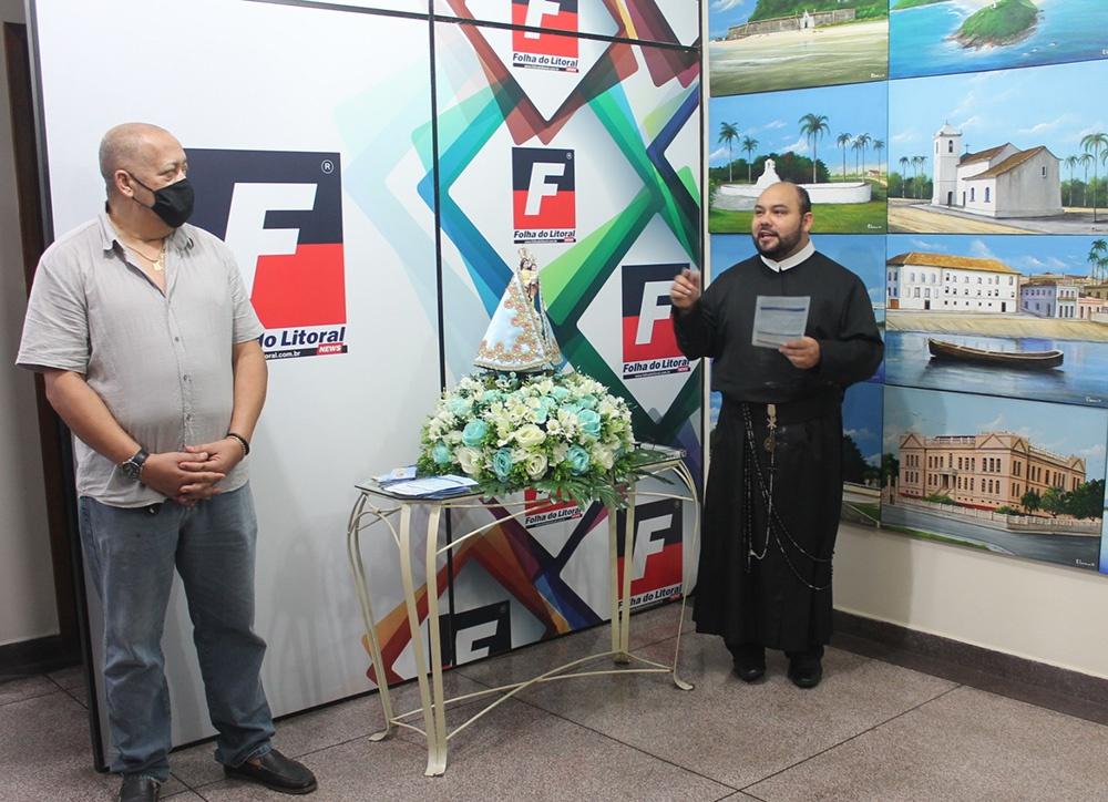 Nossa Senhora do Rocio visita a Folha do Litoral News