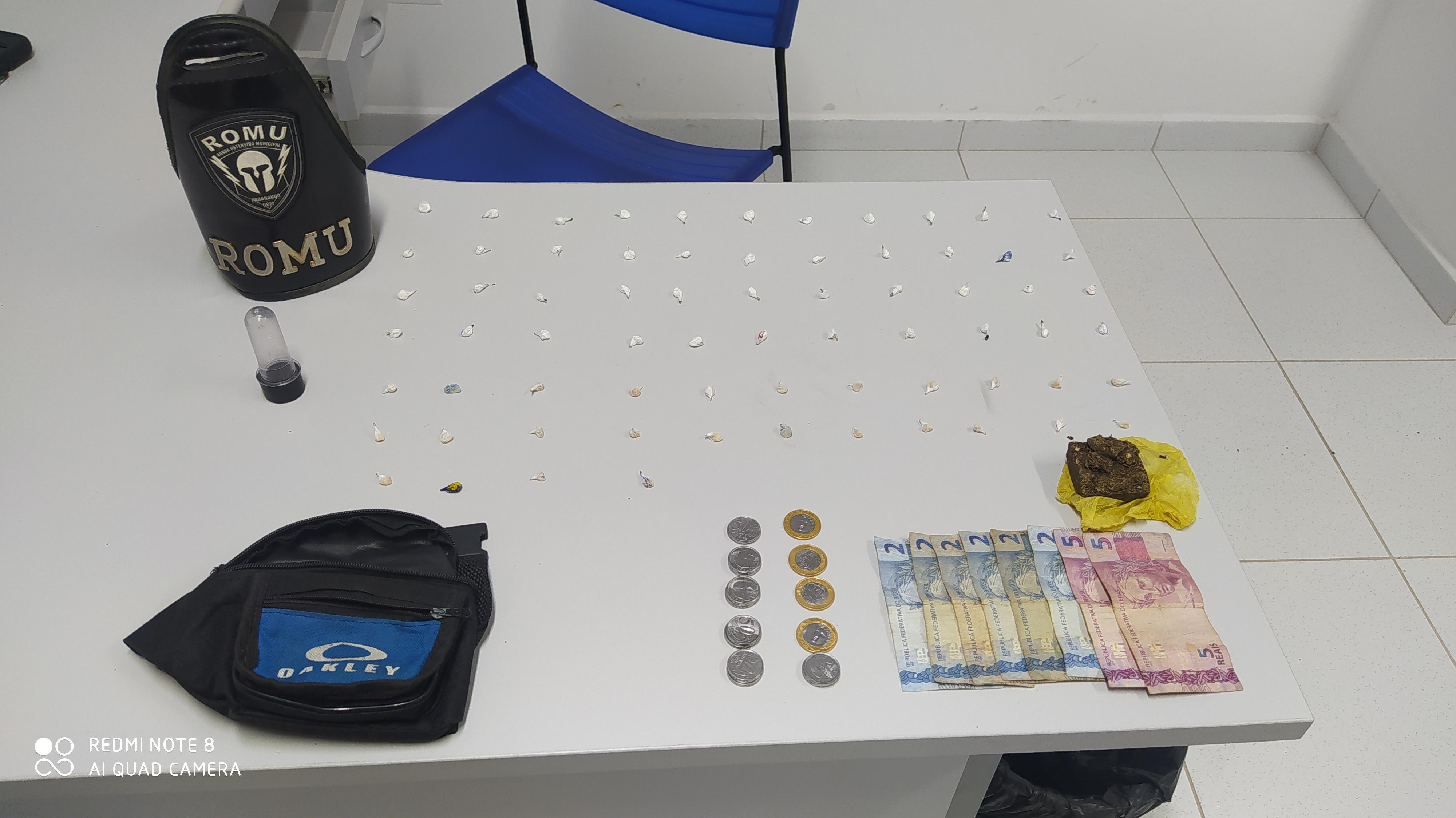 Menor é apreendido pela ROMU no Beira Rio com crack e cocaína