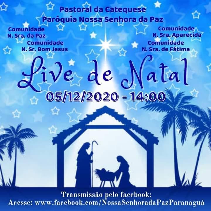 Pastoral da Catequese da Paróquia Nossa Senhora da Paz promove Live e drive-thru da Campanha Solidária de Natal