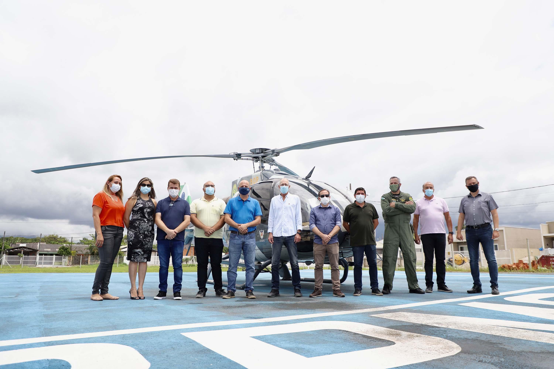Serviço aeromédico será reforçado no Litoral na temporada