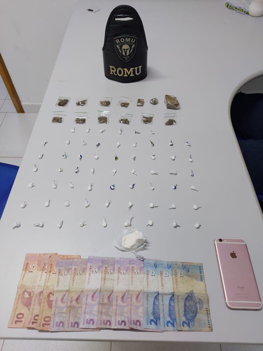 Menor é flagrado com maconha e cocaína na Vila São Jorge