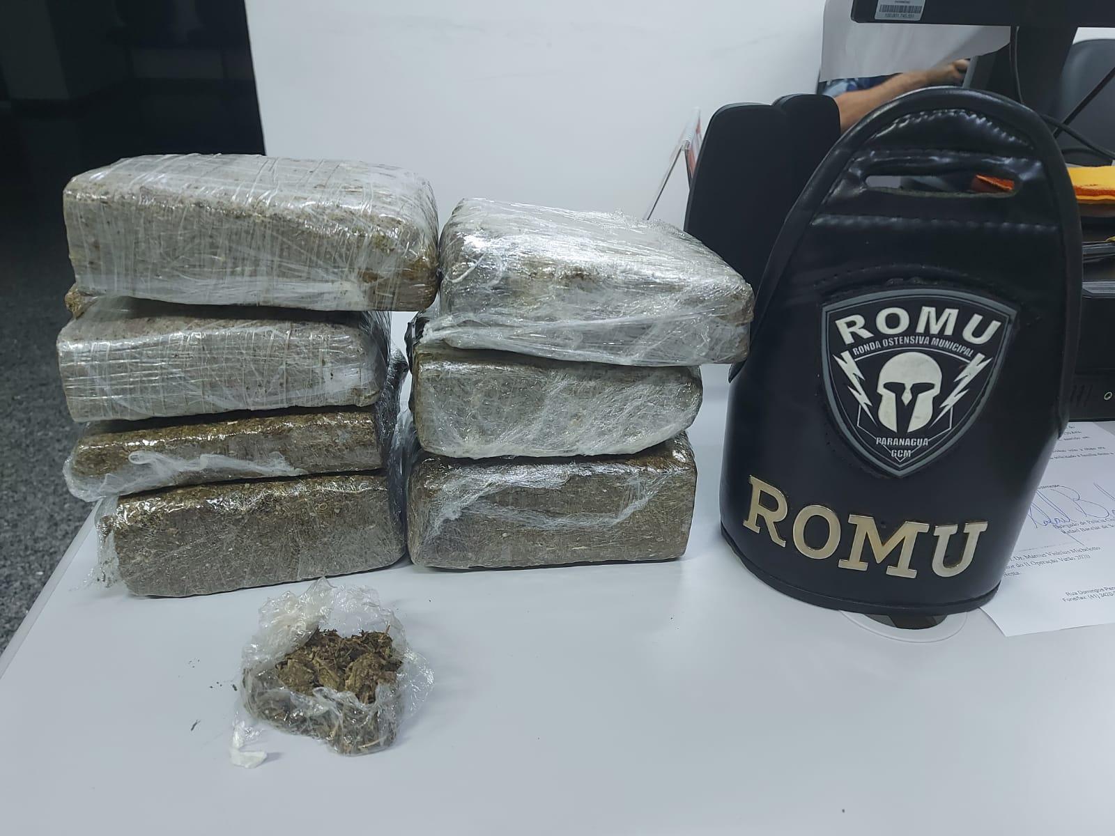 ROMU encontra quase 3 quilos de maconha no Jardim Jacarandá