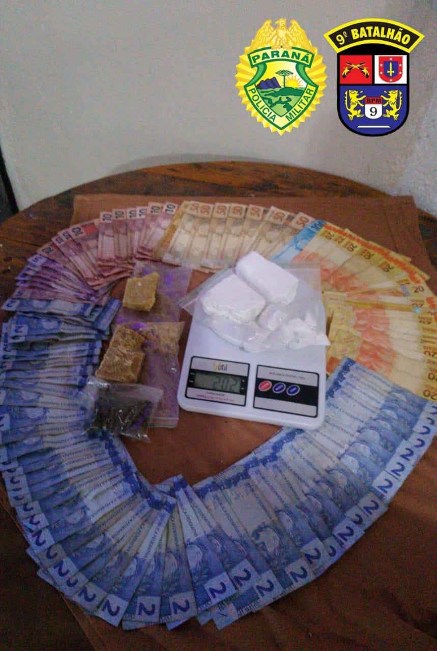 ROTAM apreende crack, cocaína e maconha em Pontal do Paraná