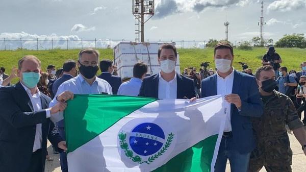 Vacinas Coronavac destinadas ao Paraná chegarão no Aeroporto Afonso Pena