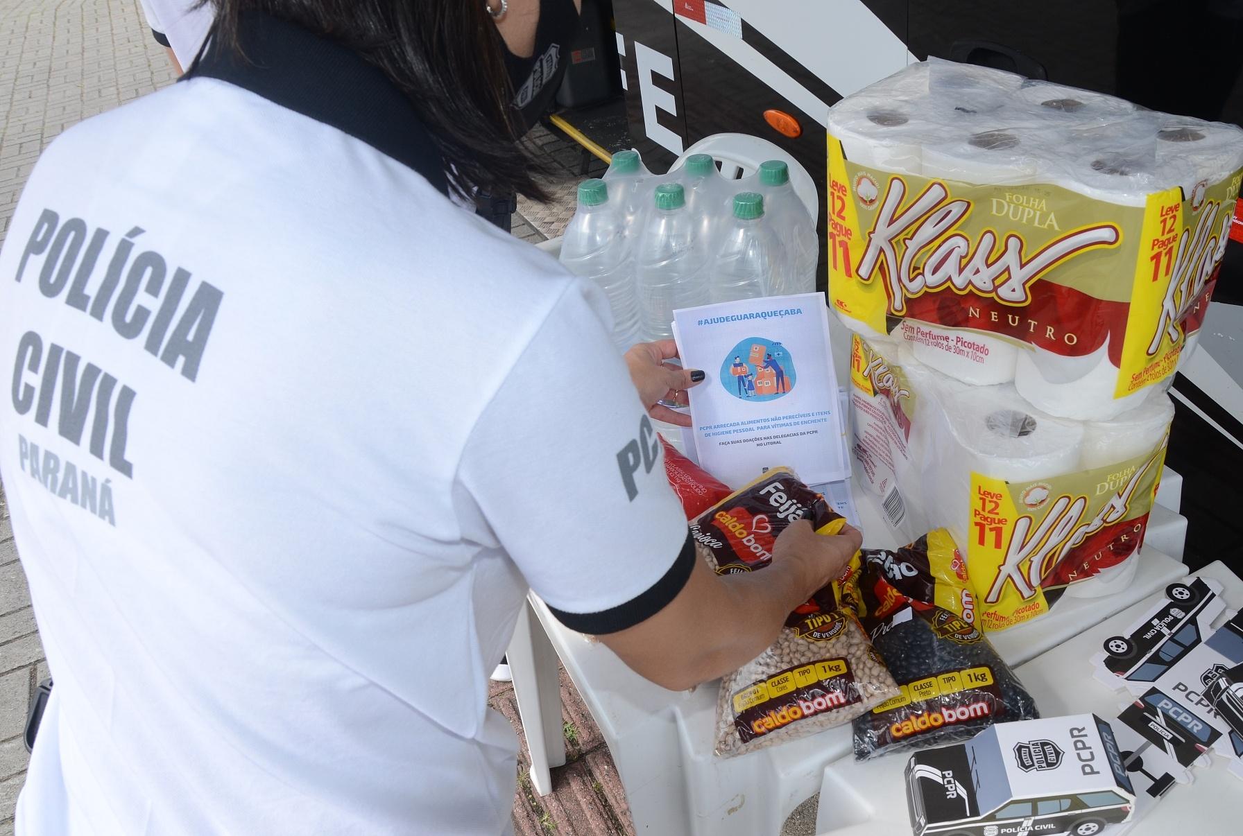 PCPR arrecada doações para vítimas de enchentes em Guaraqueçaba
