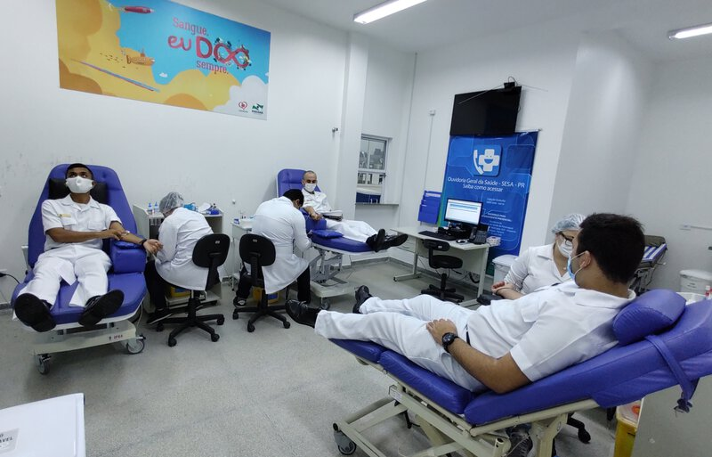 Capitania dos Portos realiza 1.ª campanha de doação de sangue de 2021 em Paranaguá
