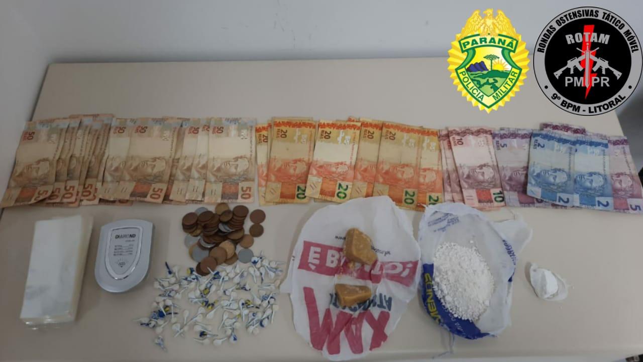 Denúncias levam PM até ponto de venda de entorpecentes na Serraria do Rocha