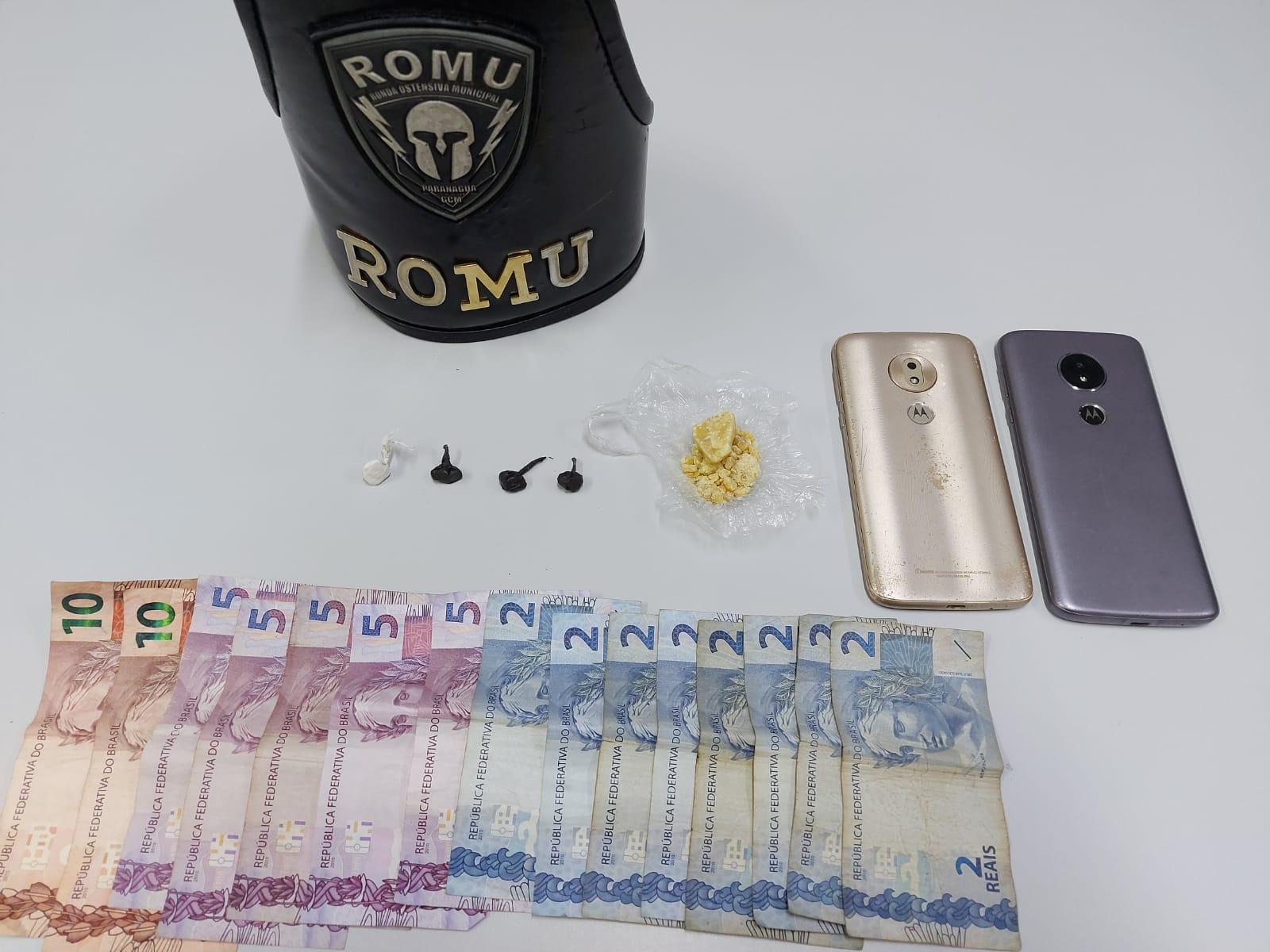 Acusado de tráfico de drogas é preso pela ROMU na Costeira
