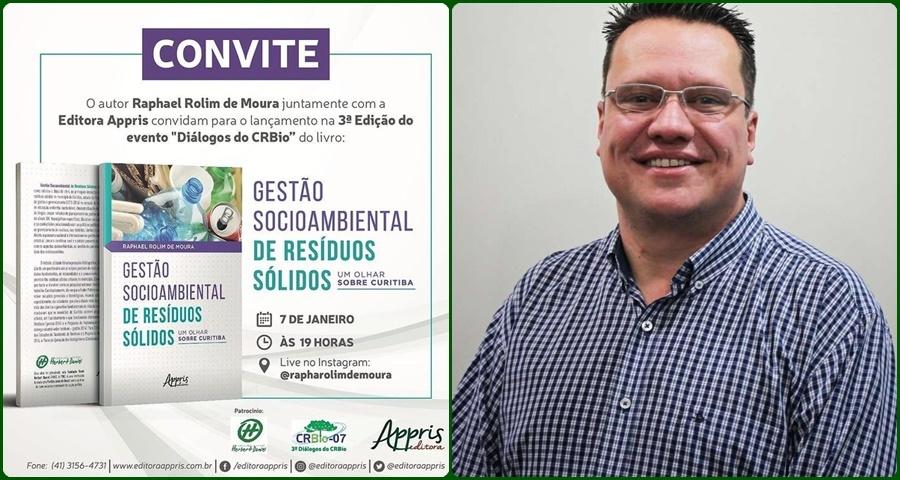 """Raphael Rolim lança livro sobre """"Gestão socioambiental de resíduos sólidos"""""""