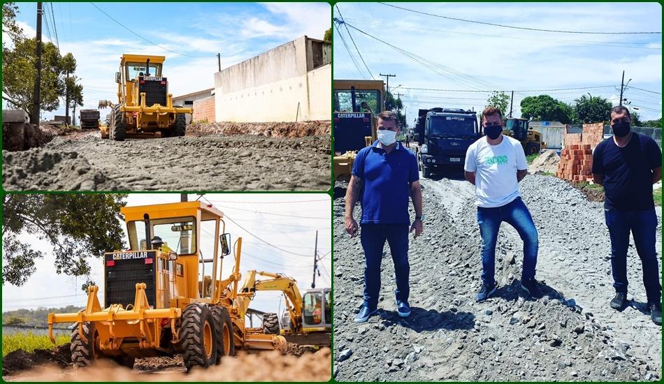 Prefeitura de Paranaguá segue realizando obras de pavimentação na Vila Garcia