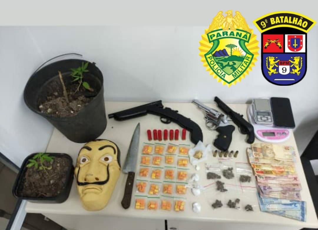 ROTAM apreende armas de fogo e drogas no Beira Rio