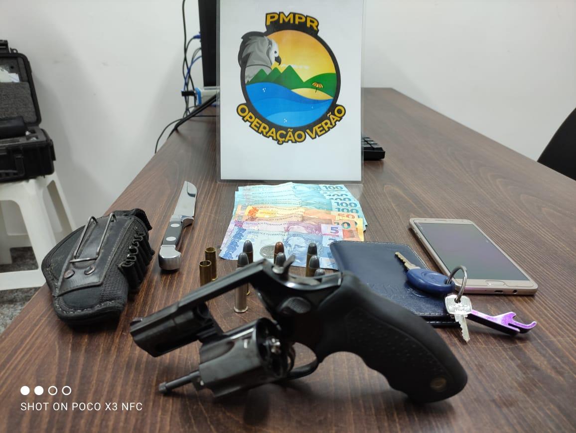 PM apreende duas armas em menos de 24h no litoral
