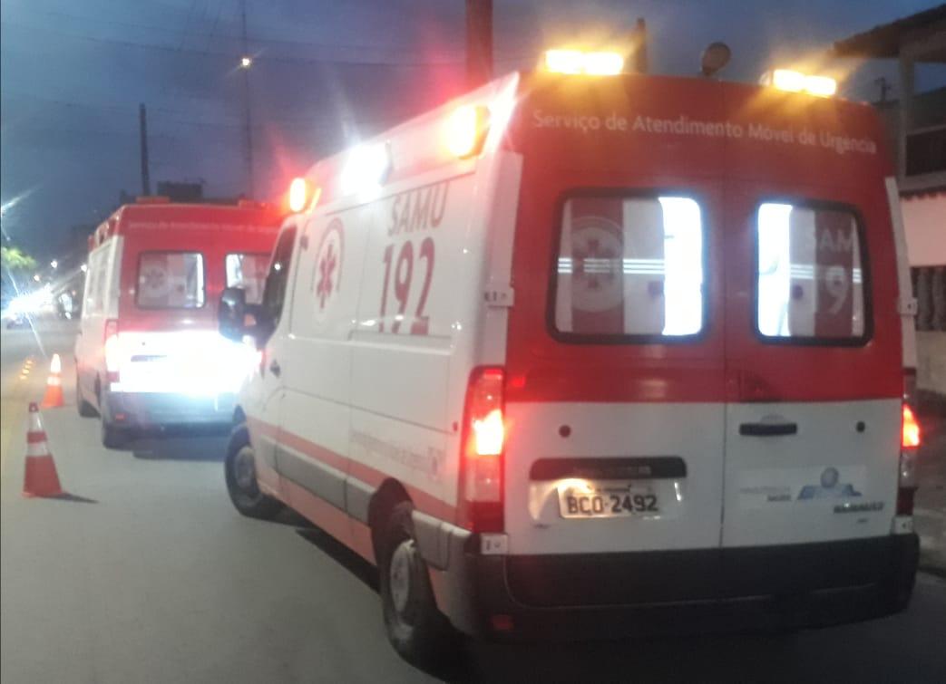 Ciclista fica gravemente ferido em acidente de trânsito na região portuária