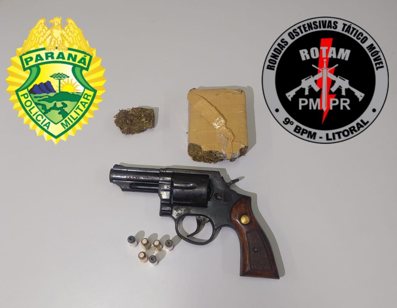 ROTAM apreende revólver e maconha na Vila São Jorge II