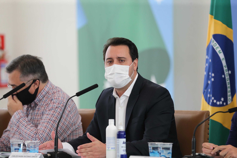"""""""É um momento delicado, em que precisamos tomar medidas mais duras para conter a contaminação da Covid-19"""", afirma o governador Ratinho Júnior (Foto: Geraldo Bubniak/AEN)"""
