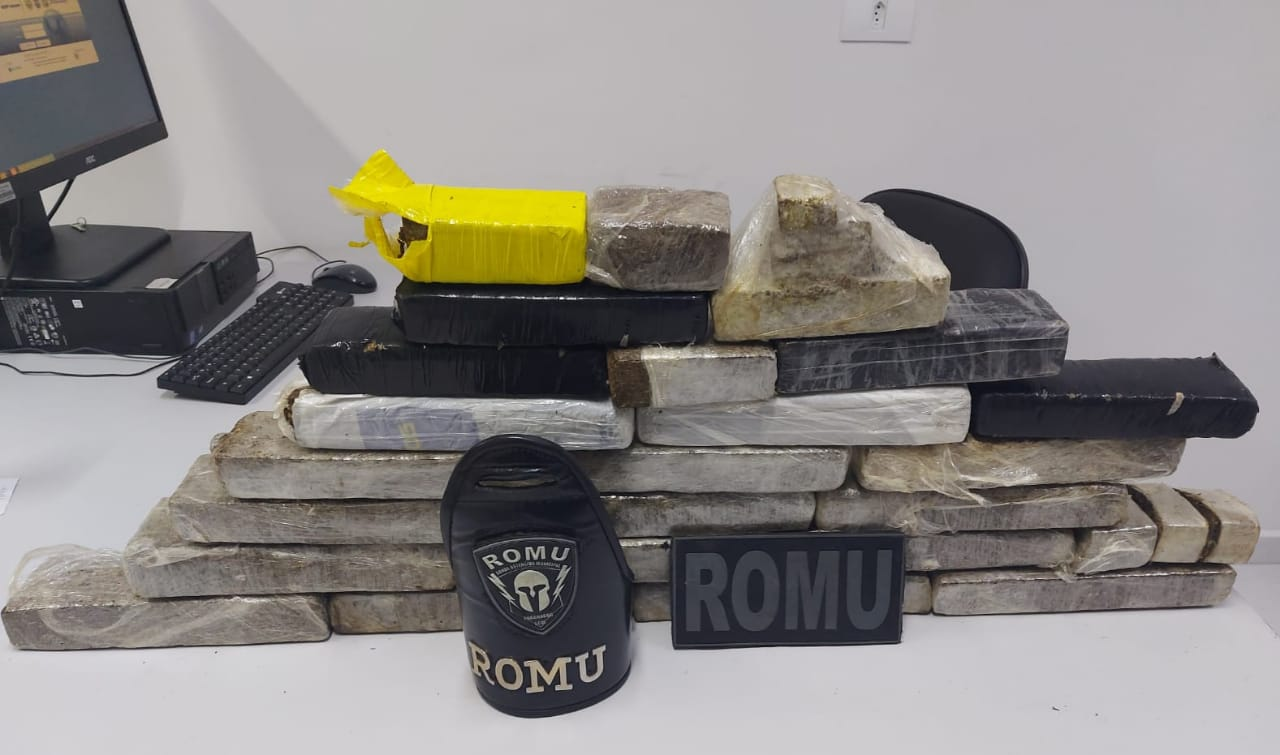 ROMU encontra quase 15 quilos de maconha dentro de uma casa no Beira Rio