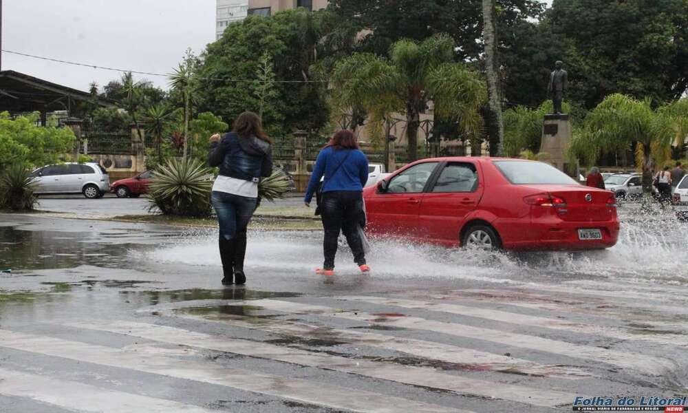 Chuvas intensas devem atingir o litoral no fim de semana