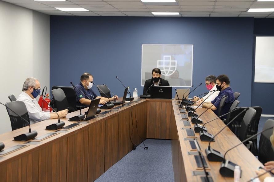 As reuniões do Conselho de Autoridade Portuária do Porto de Paranaguá foram retomadas neste mês de março. O órgão consultivo é formado por representantes do poder público, classe trabalhadora e empresarial. -  Paranaguá, 22/03/2021  -  Foto: Claudio Neves/Portos do Paraná