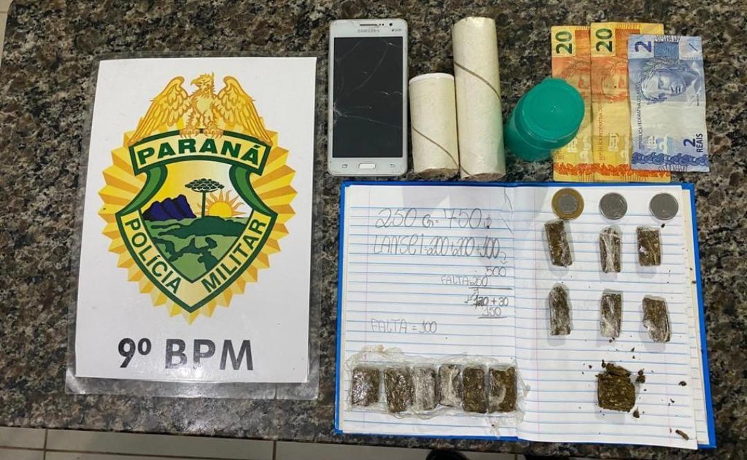 Rapaz é preso em Morretes acusado de vender drogas na beira do Rio Nhundiaquara