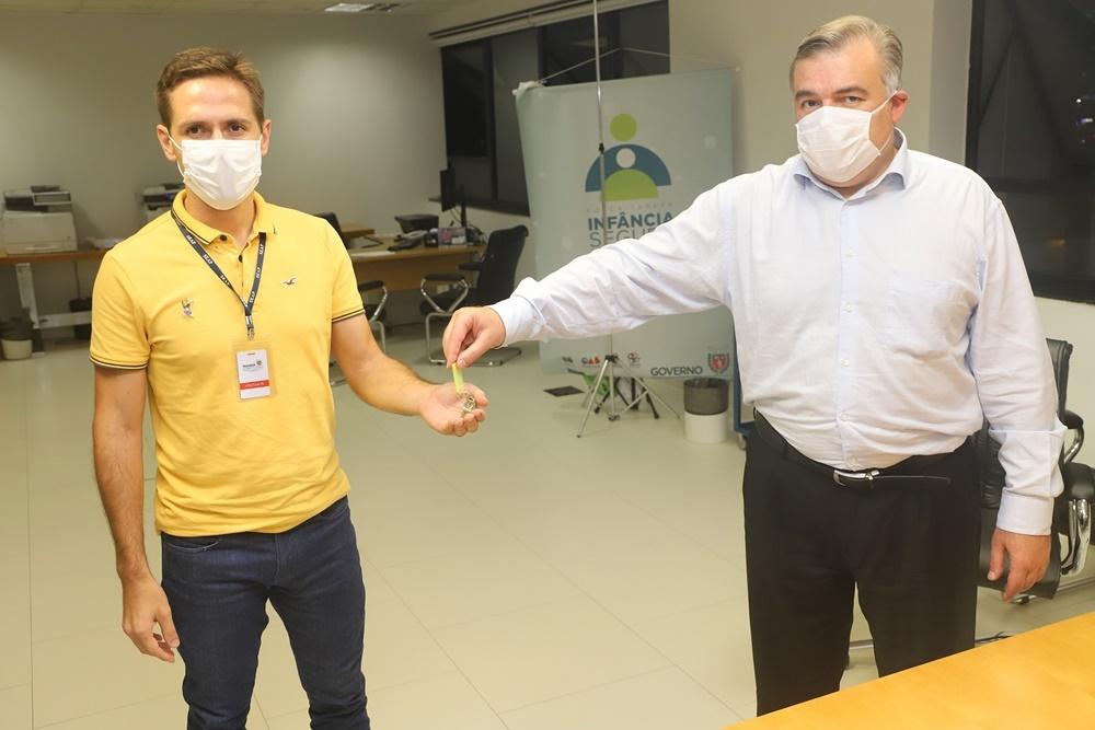 Secretaria de Justiça entrega nova unidade do Creas em Pontal do Paraná